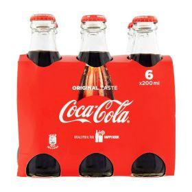 Coca cola Bottiglia in vetro cl. 25 x 6