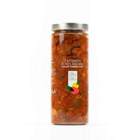 giù giù caponata melanzane sicilia siciliano gr. 950 prezzemolo e vitale