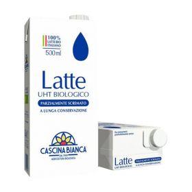 Cascina Bianca Latte parzialmente scremato bio ml. 500