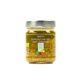 giù giù pesto di pistacchio bio gr. 200 siciliano sicilia prezzemolo e vitale