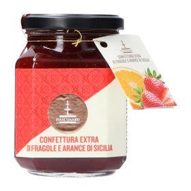 Fiasconaro Confettura extra di fragole e arance di Sicilia gr. 360