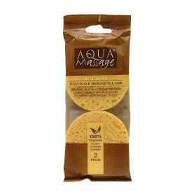 Aqua Massage Spugnetta naturale levatrucco 2 pezzi