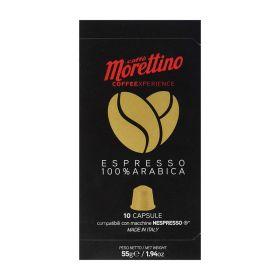 Morettino  Espresso 100 % arabica 10 capsule compatibili Nespresso