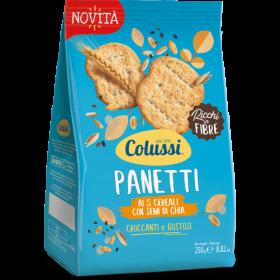 Colussi Panetti ai 5 cereali con semi di chia gr. 250